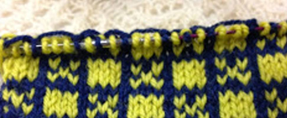 Nordic Motif Pillow in Patons Classic Wool Worsted yarn