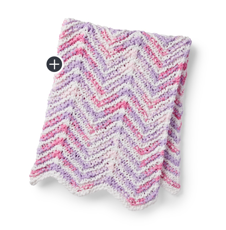 Mini Stripes Knit Baby Blanket