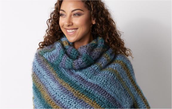 Bernat Shifting Colors Crochet Shawl
