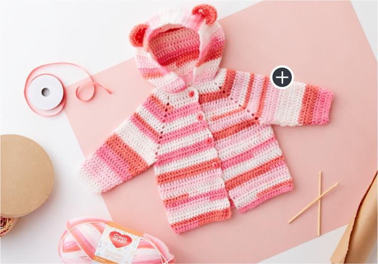 Easy Baby Bear Crochet Baby Hoodie