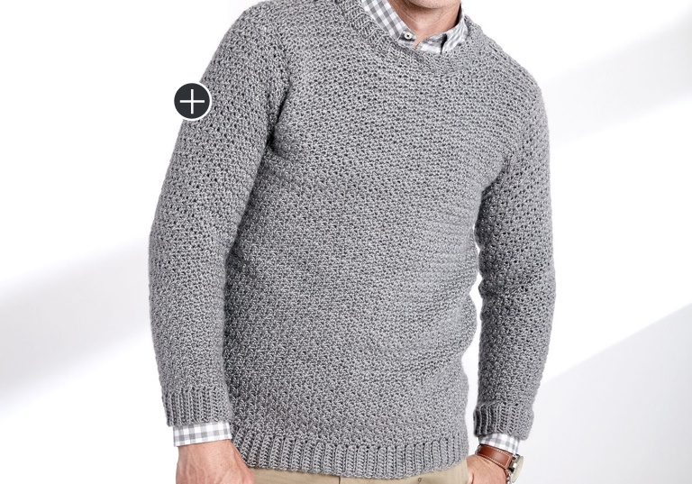 Easy Crochet Crew Neck Pullover