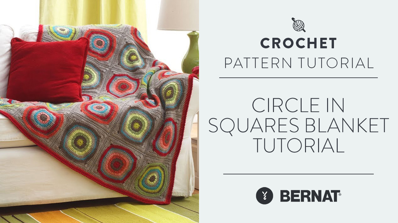 Circle in Squares Blanket Tutorial