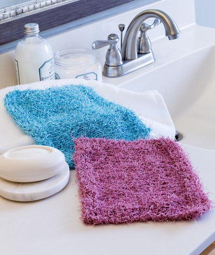Simple Knit Scrubbies Free Knitting Pattern LW5258