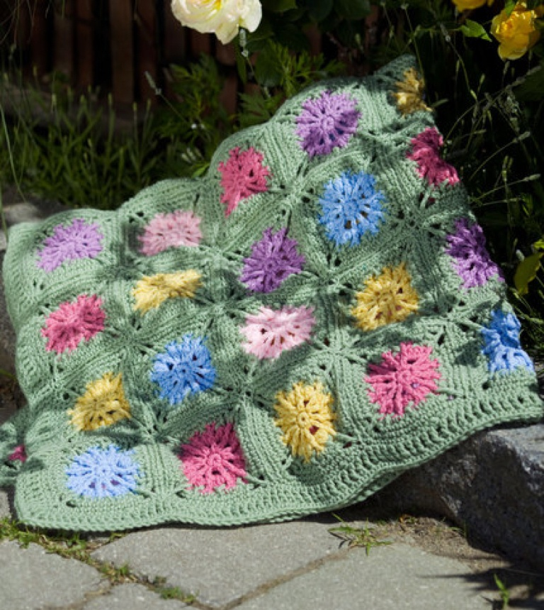 Easy Crochet Flower Field