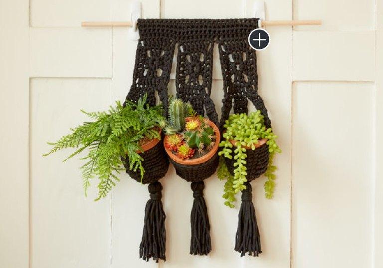 Intermediate Crochet Hanging Trio