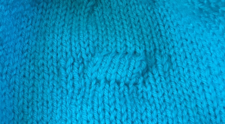 How to Fix a Hole in Your Knitting with Embroidery