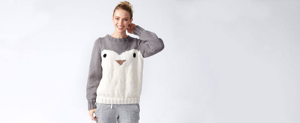 Penguin Knit Holiday Sweater