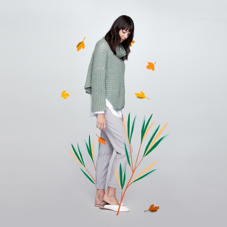 Easy Crochet Cowl Pullover