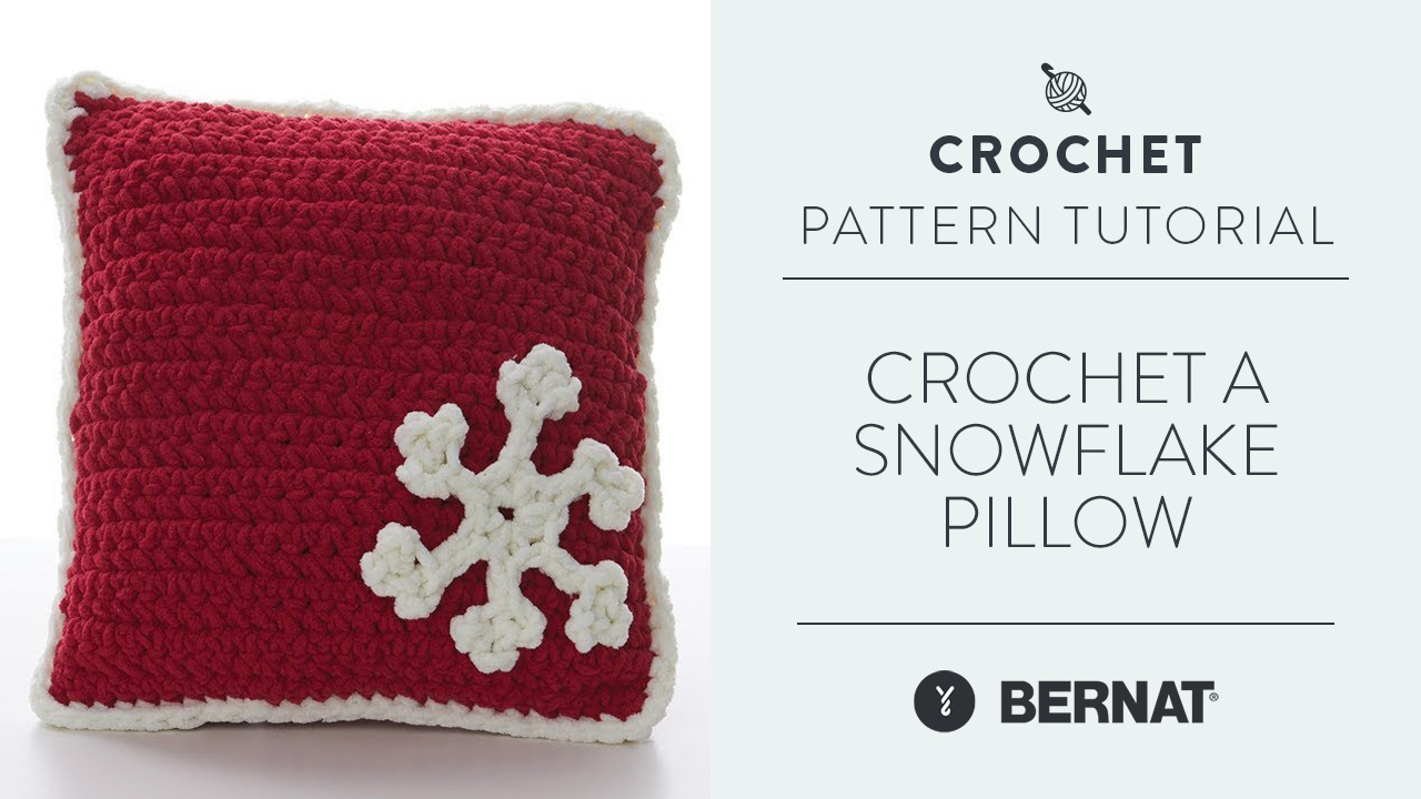 Crochet A Snowflake Pillow