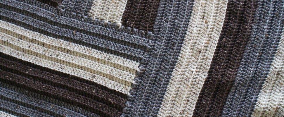 Staircase Crochet Afghan Diagram