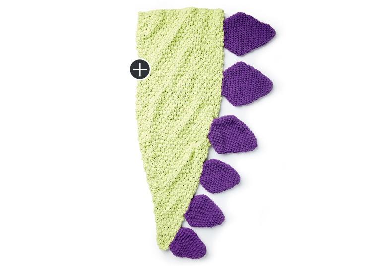 brand new db119 c36db Bernat Dino Tail Crochet Snuggle Sack | Yarnspirations