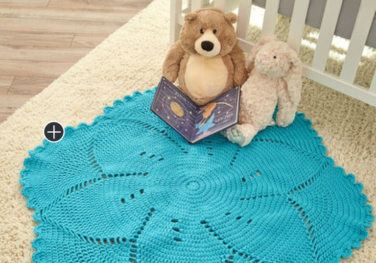 Intermediate Scalloped Crochet Baby Blanket