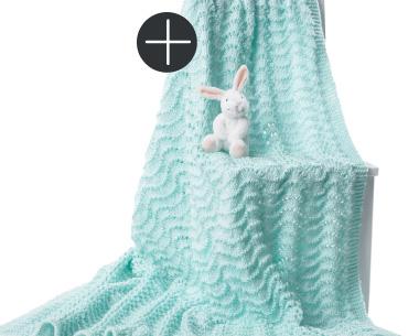 Bernat knit baby blanket