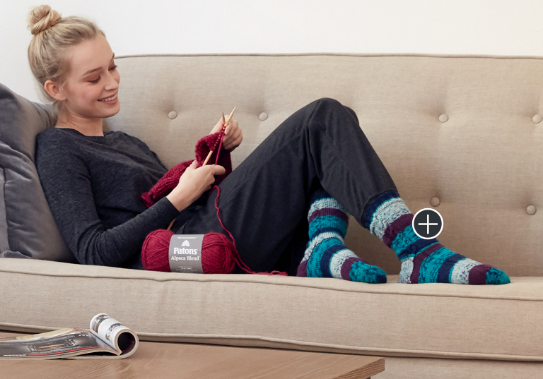 Easy Cables on the Sides Knit Socks