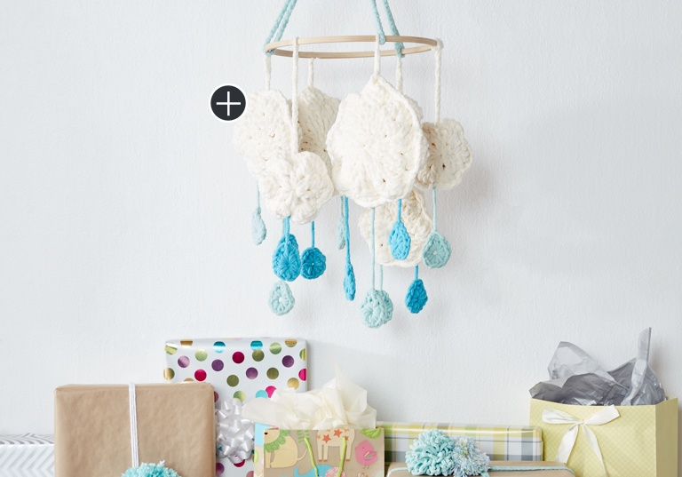 Easy Cloudy Day Crochet Mobile
