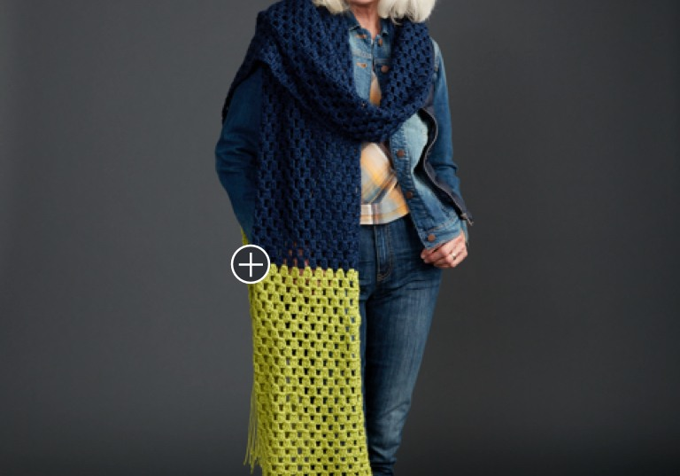 Easy Granny Takes A Dip Crochet Super Scarf