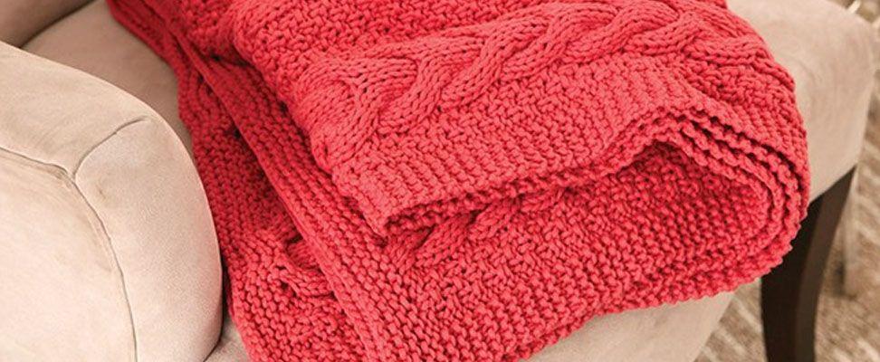 Cable Ready Blanket in Bernat Maker Home Dec yarn