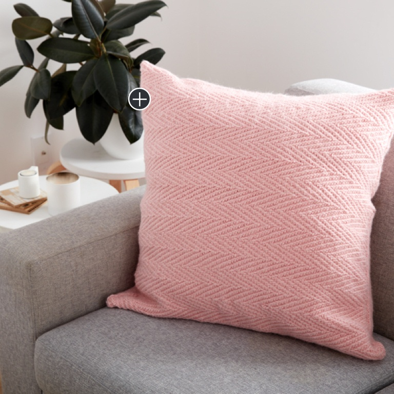 Easy Knit Herringbone Pillow
