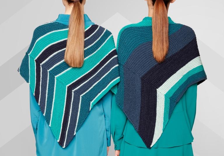 Intermediate Asymmetrical Knit Shawl