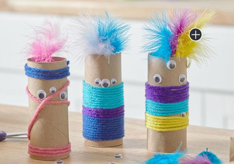 Beginner Paper Tube Monsters