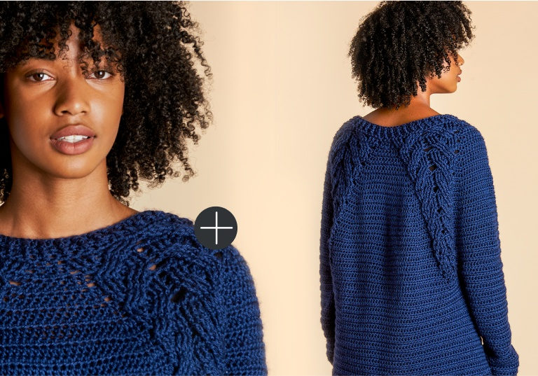 Caron branching out pullover