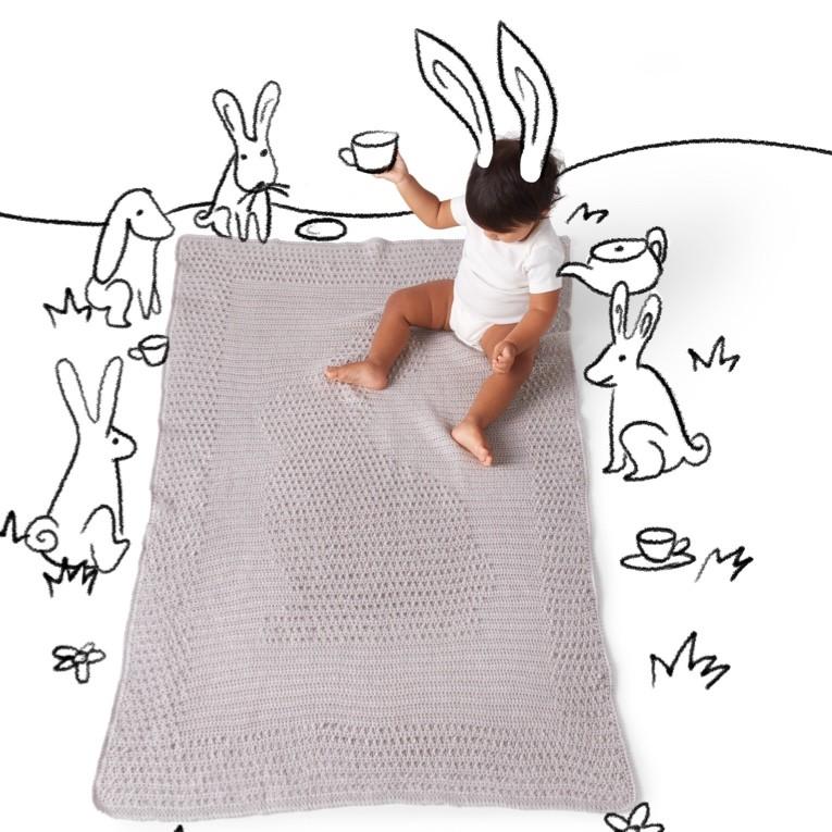 Woodland Bunny Crochet Blanket