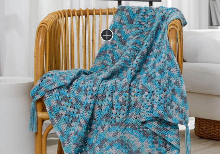 Easy Modern Crochet Granny Throw