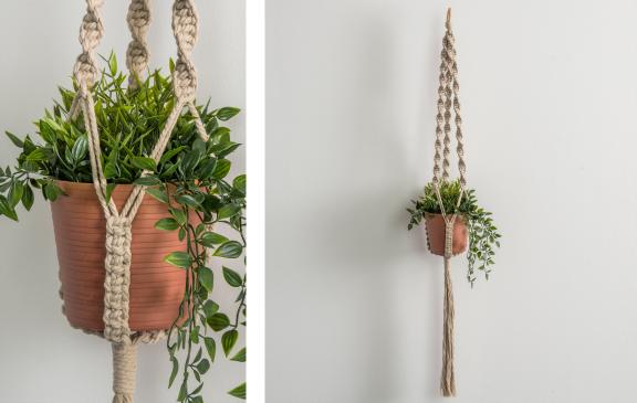 Bernat Macrame Simple Spiral Plant Hanger