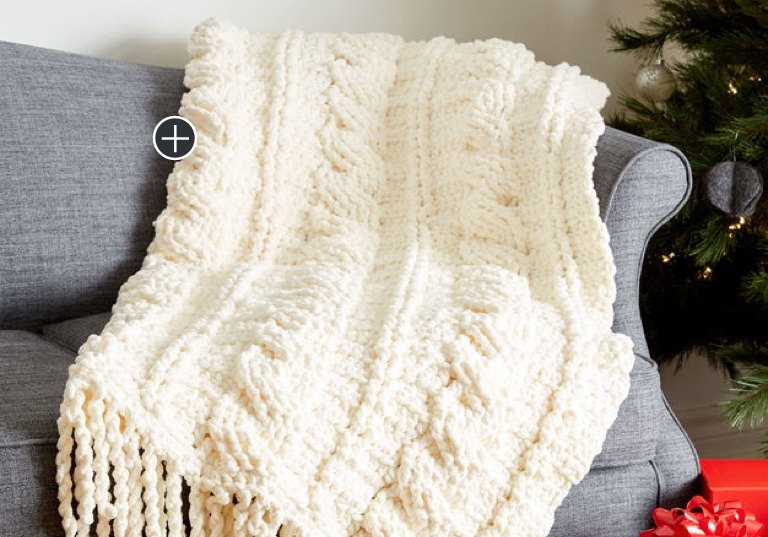 Intermediate Crochet Cables Afghan
