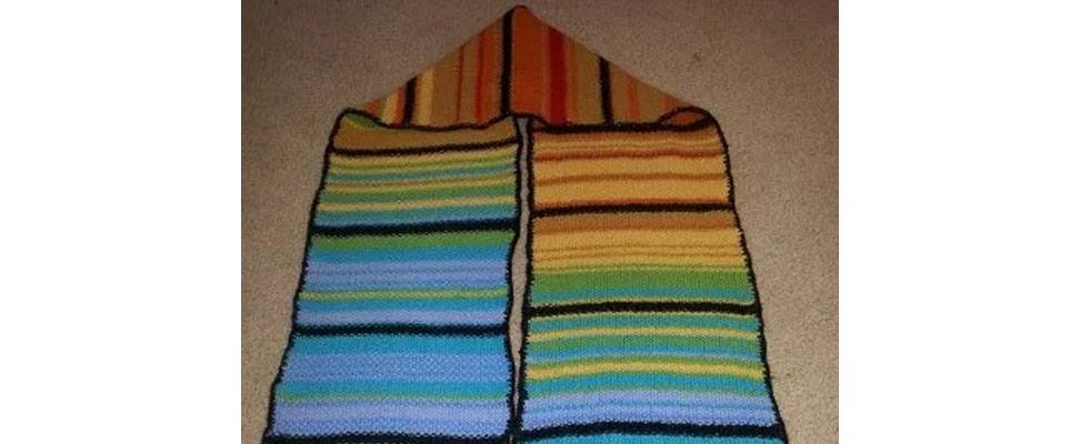 2013 Temperature Scarf Completed Blog Yarnspirations