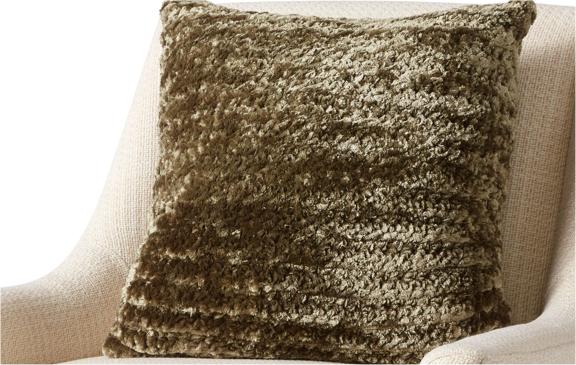 Bernat Corded Rib Crochet Pillow