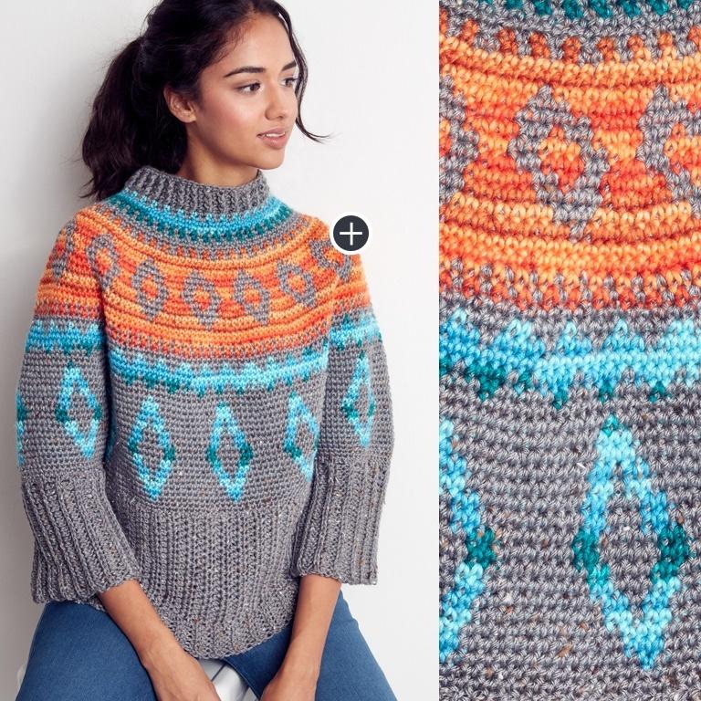 Intermediate Diamond Days Crochet Swoncho