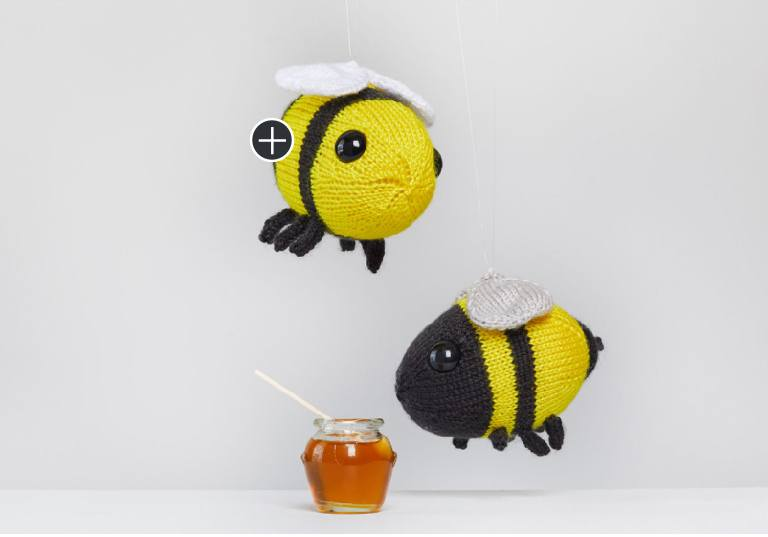 Easy Buz and Belinda Knit Bumblebee