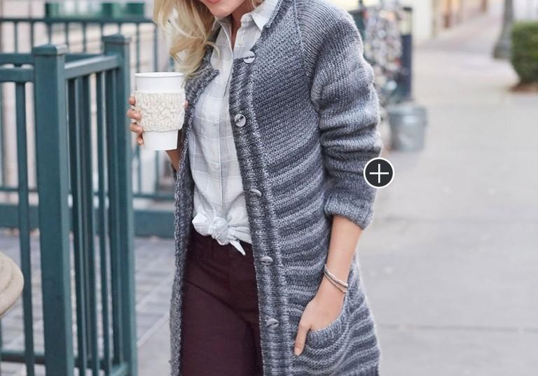 Intermediate Knit Morning Coffee Car Coat