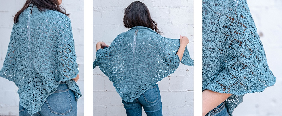 Pastoral Lace Knit Shawl in Patons Grace yarn