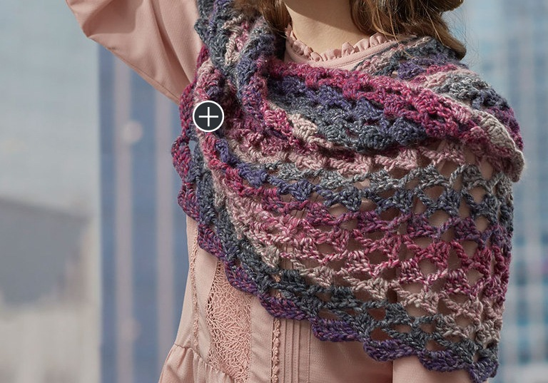 Easy Roundabout Crochet Shawl
