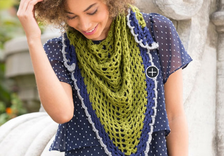 Easy Light & Lacy Crochet Shawl