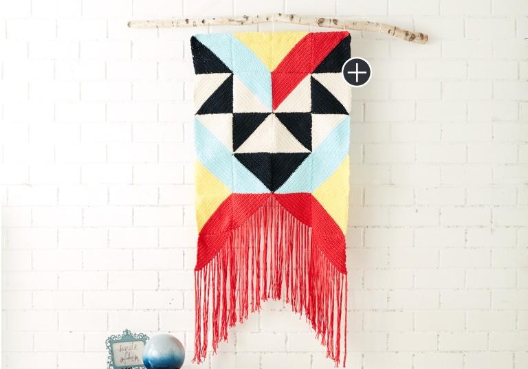 Easy Geometric Wall Hanging