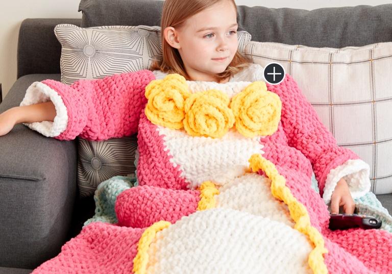 Intermediate Dreamy Princess Crochet Snuggle Sack