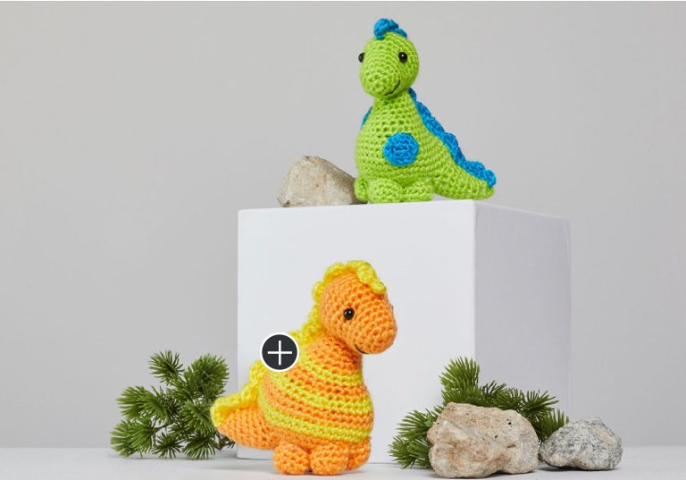 Easy Stellan and Stanley Crochet Dinosaur