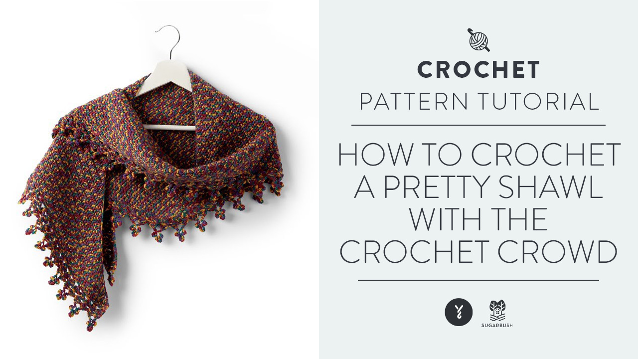 How To Crochet A Pretty Shawl With The Crochet Crowd