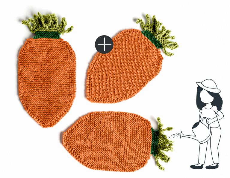 Lily Sugar'n Cream 24 Carrot Knit Dishcloth