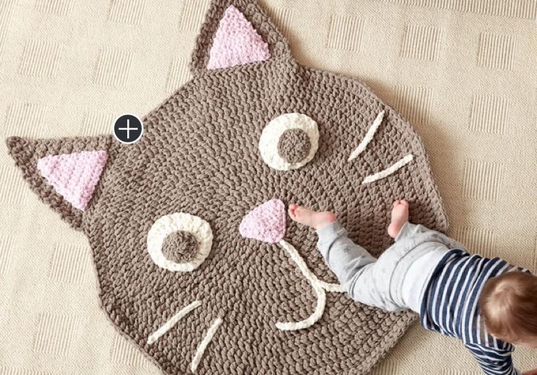 Easy Purrfect Crochet Play Rug