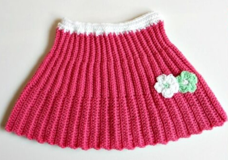 My Hobby is Crochet Pleated Mini Skirt