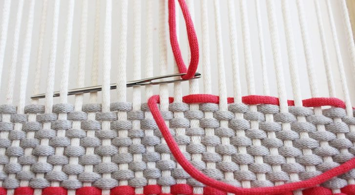 Frame Weaving with Bernat Yarn