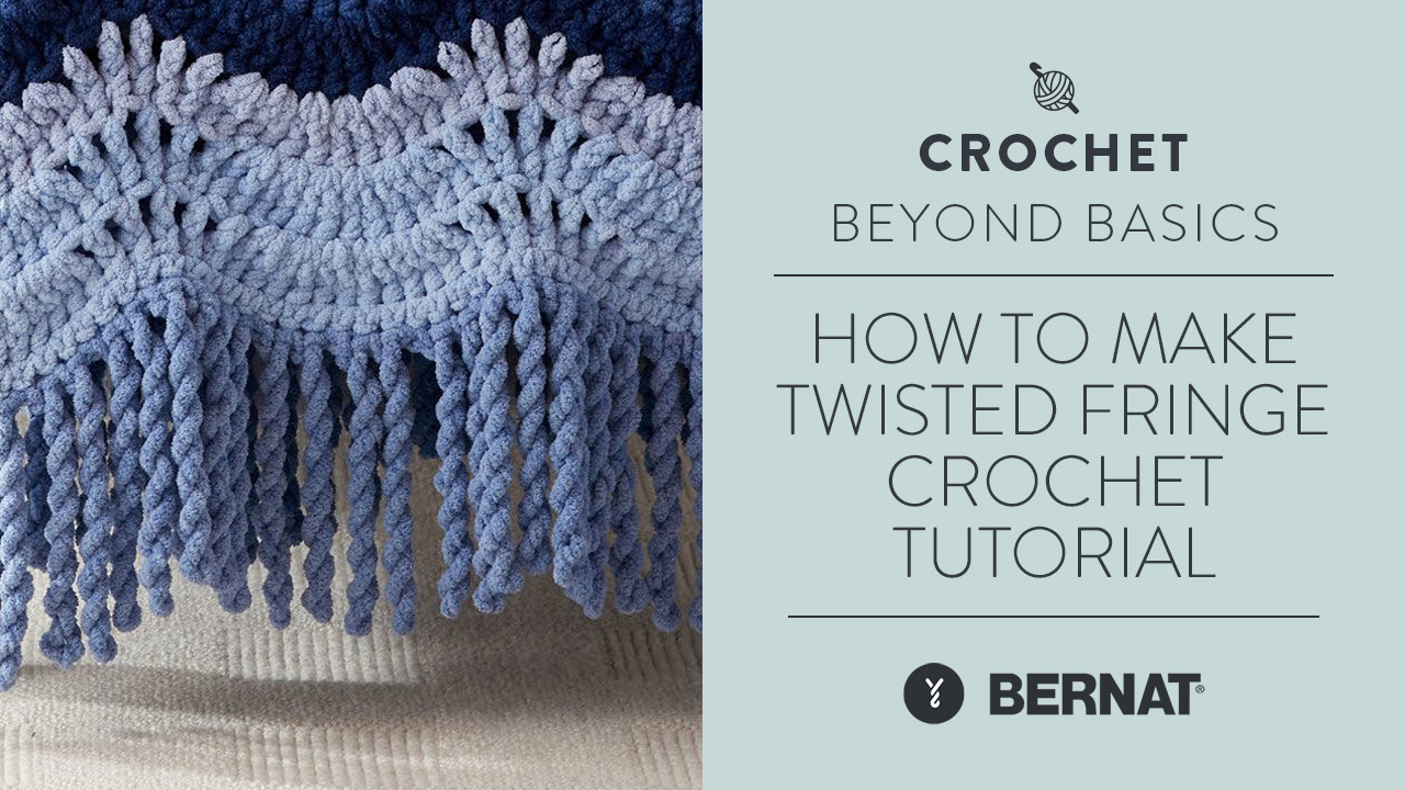How to Make Twisted Fringe | Crochet Tutorial