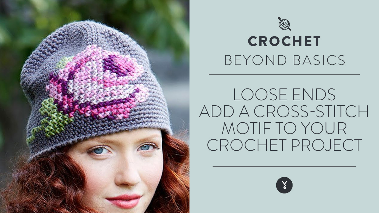 Loose Ends:  Add a Cross-Stitch Motif to your Crochet Project