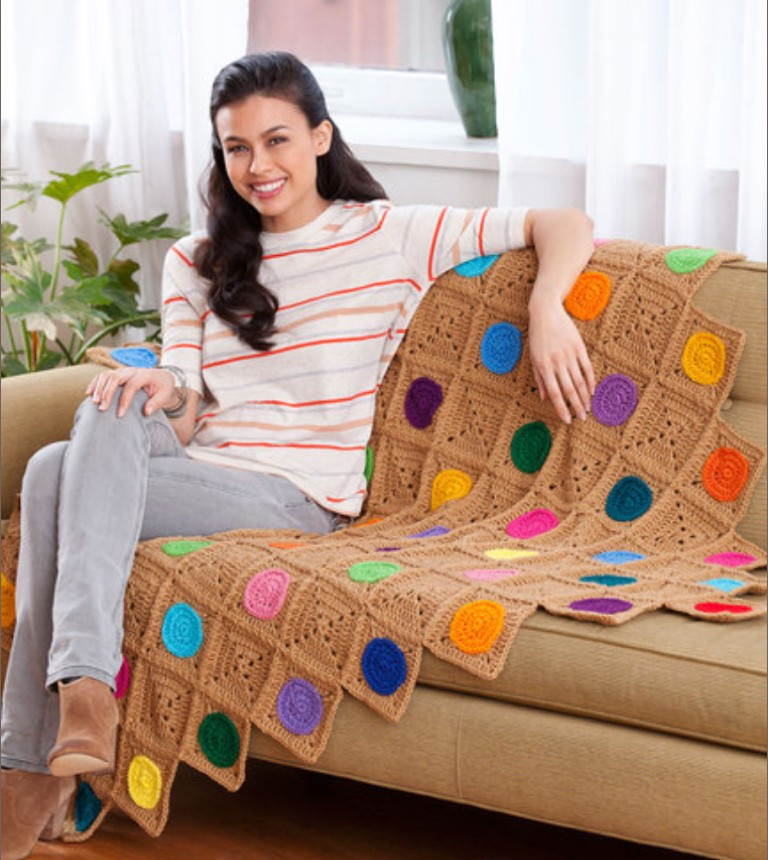 Intermediate Crochet Circles Throw