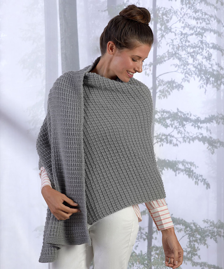 Safe Haven Shawl Free Knitting Pattern LW6342