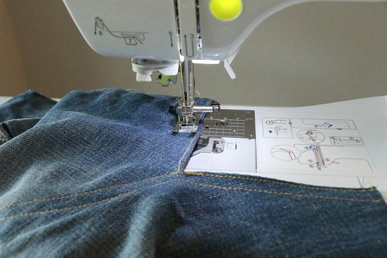 how to stitch denim photo